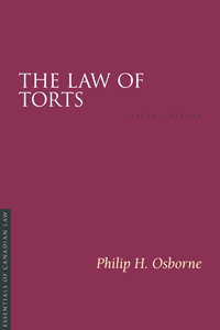 The Law of Torts, 5/e