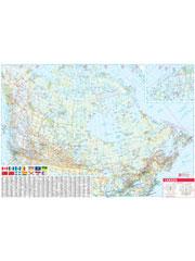 Canada Map Laminated Wall Map