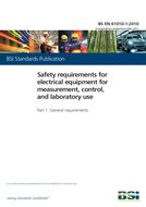 BS EN 61010-1:2010 Safety requirements for electrical equipment